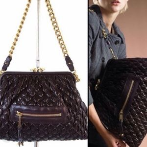Marc Jacobs quilted leather Stam bag in Plum